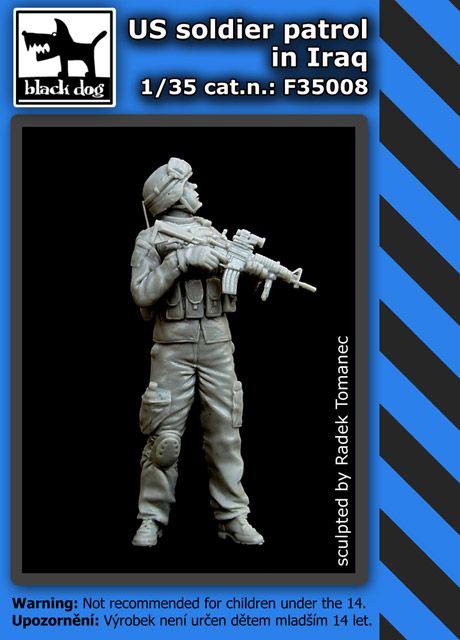 F35008 1/35 US soldier patrol in Iraq Blackdog