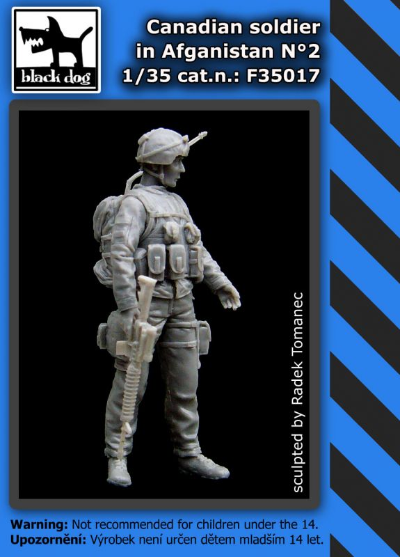 F35017 1/35 Canadian soldier in Afganistan N°2 Blackdog