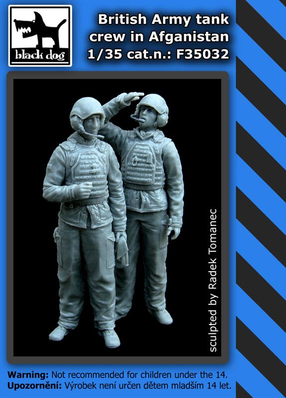 F35032 1/35 British army tank crew in Afghanistan Blackdog
