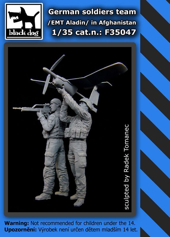 F35047 1/35 German soldiers team/EMT Aladin/in Afghanist. Blackdog