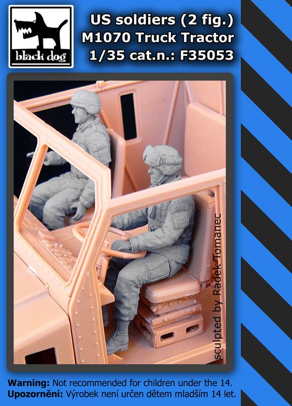 F35053 1/35 Us soldiers 2fig.M1070 Truck tractor Blackdog