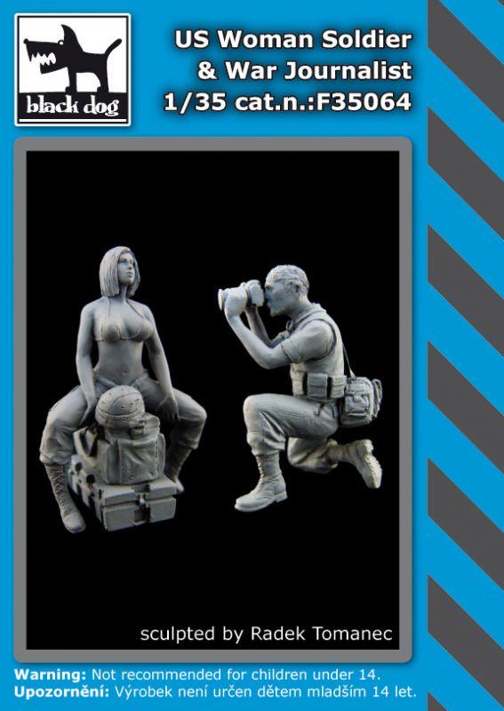 F35064 1/35 US Woman Soldier -War Journalist Blackdog
