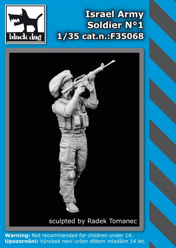 F35068 1/35 Israel army soldier N°1 Blackdog