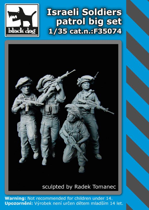 F35074 1/35 Israeli soldiers patrol big set Blackdog