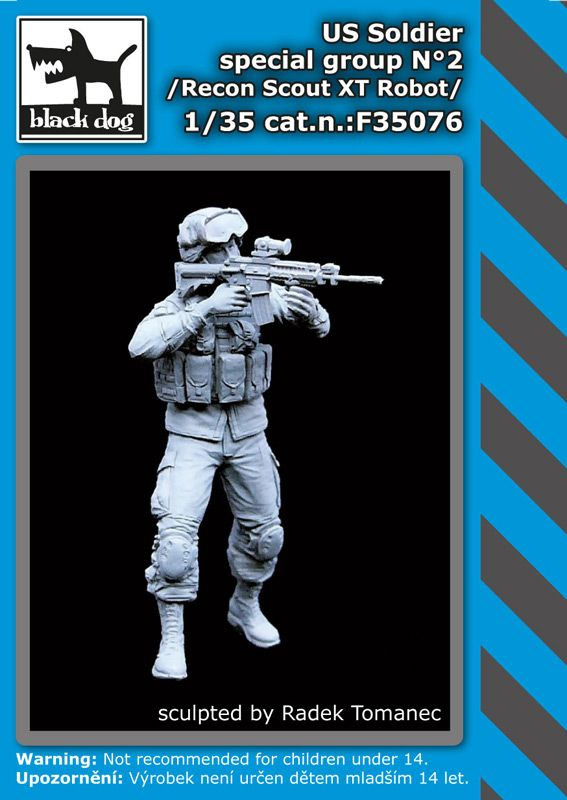 F35076 1/35 US soldier special group N°2 Blackdog