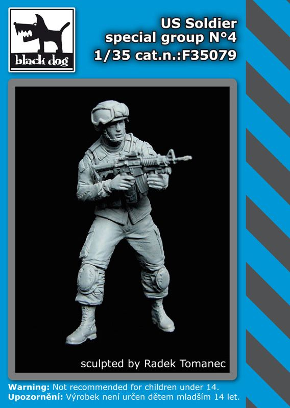 F35079 1/35 US soldier special group N°4 Blackdog