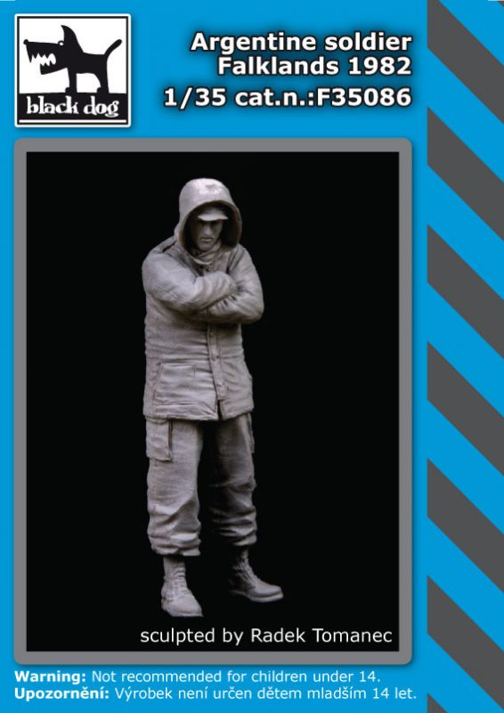 F35086 1/35 Argentine soldier Falklands 1982 Blackdog