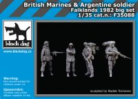 F35088 1/35 British Marinesplus Argentine soldier big set