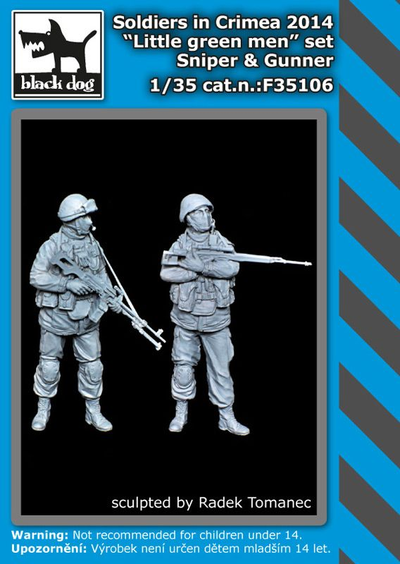 F35106 1/35 Soldiers in Crimea sniper plus gunner Blackdog