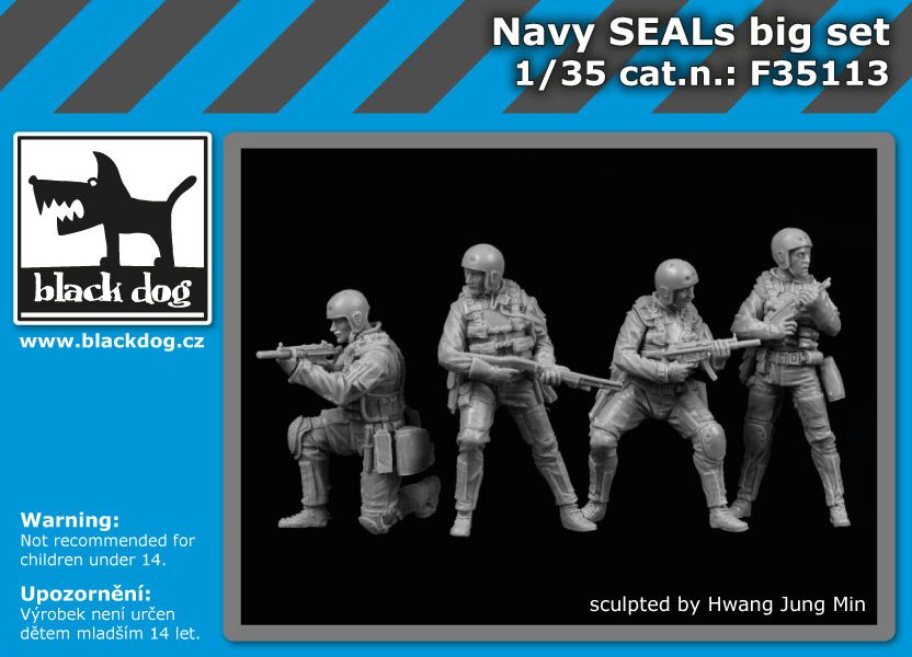 F35113 1/35 Navy Seals big set Blackdog