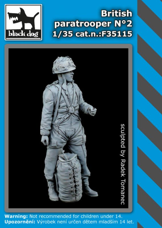 F35115 1/35 British paratroper N°2 Blackdog