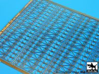 E48002 1/48 Iron railing (25cm long) Blackdog