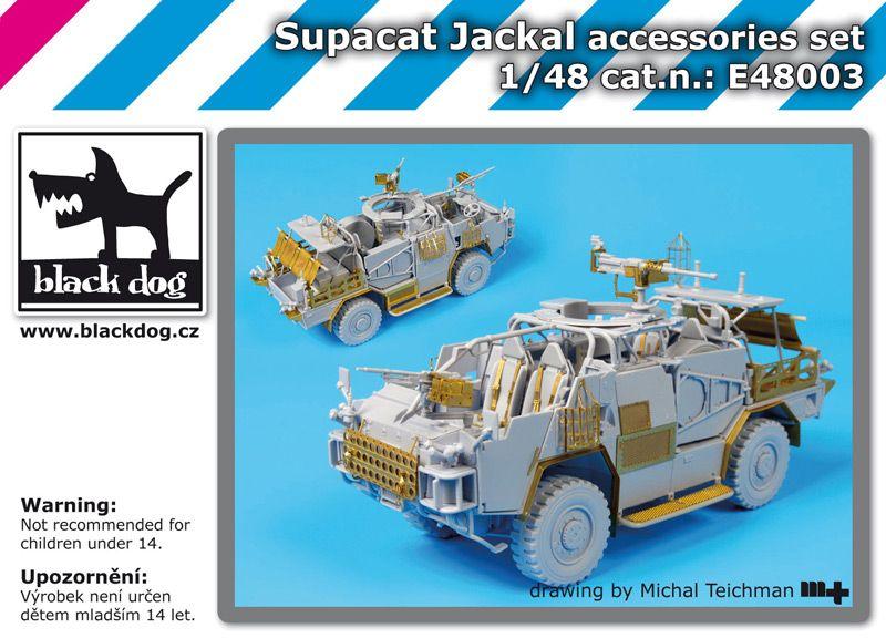 E48003 1/48 Supacat Jackal accessories set Blackdog