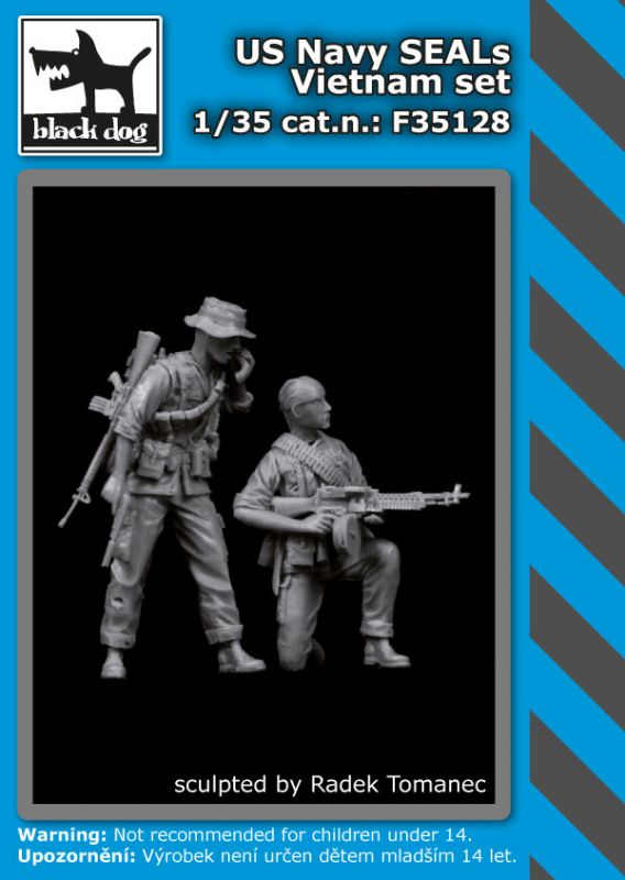 F35128 1/35 US Navy SEALs Vietnam set Blackdog