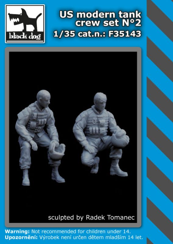 F35143 1/35 US modern tank crew set N°2 Blackdog