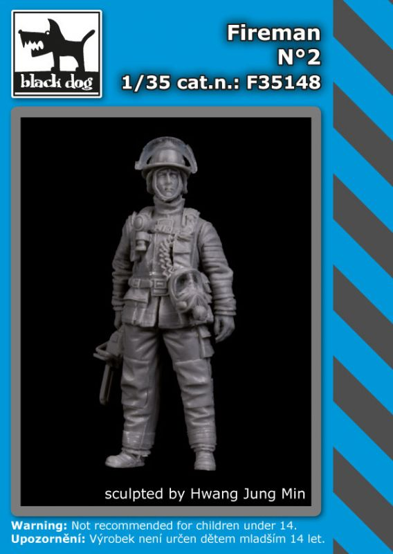 F35148 1/35 Fireman N°2 Blackdog