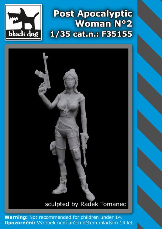 F35155 1/35 Post apocalyptic woman N°2 Blackdog