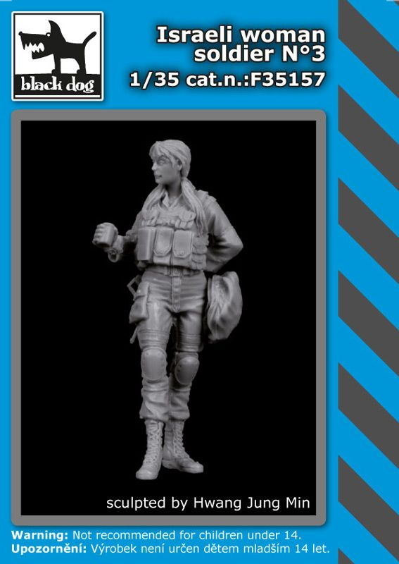 F35157 1/35 Israeli woman soldier N°3 Blackdog