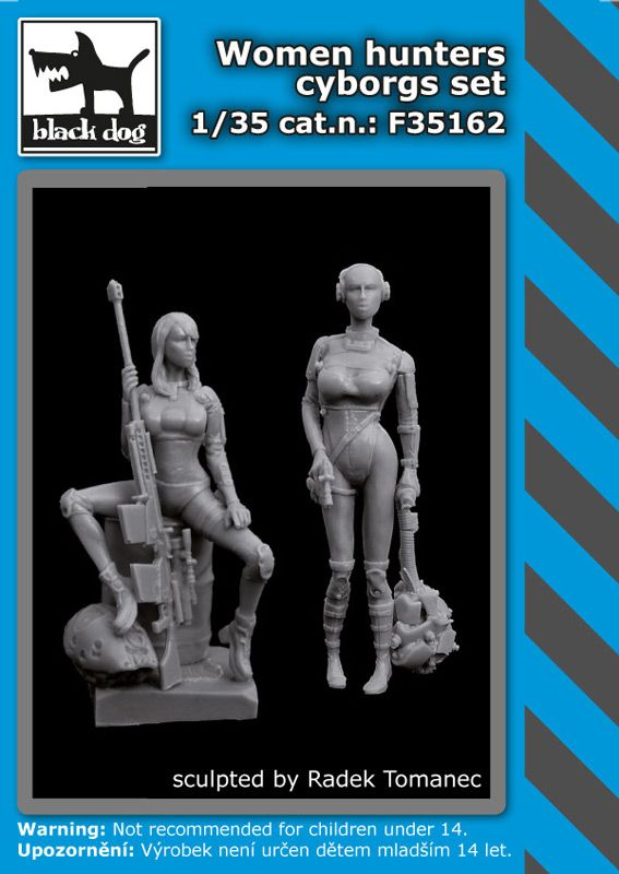 F35162 1/35 Woman hunters cyborgs set Blackdog
