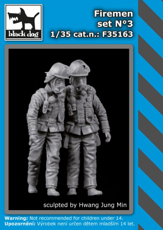 F35163 1/35 Firemen set N°3 Blackdog