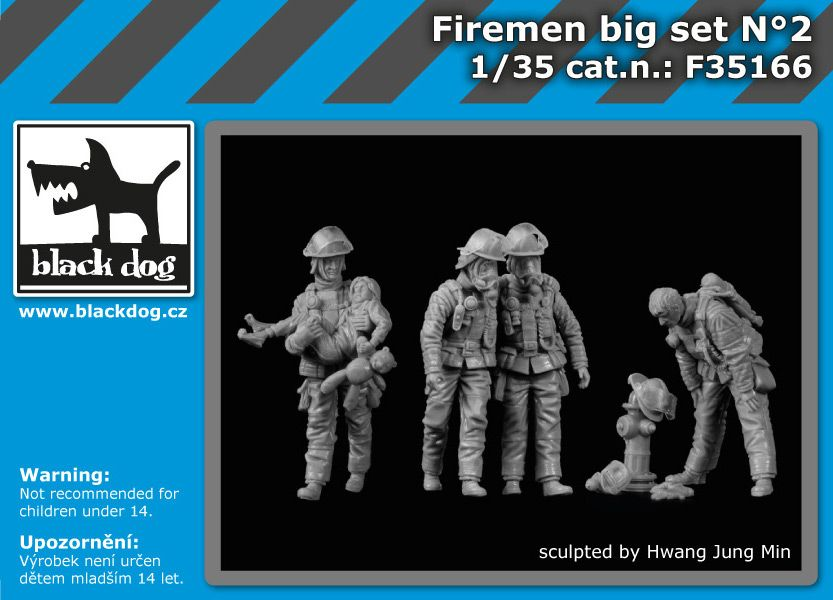 F35166 1/35 Firemen big set N°2 Blackdog
