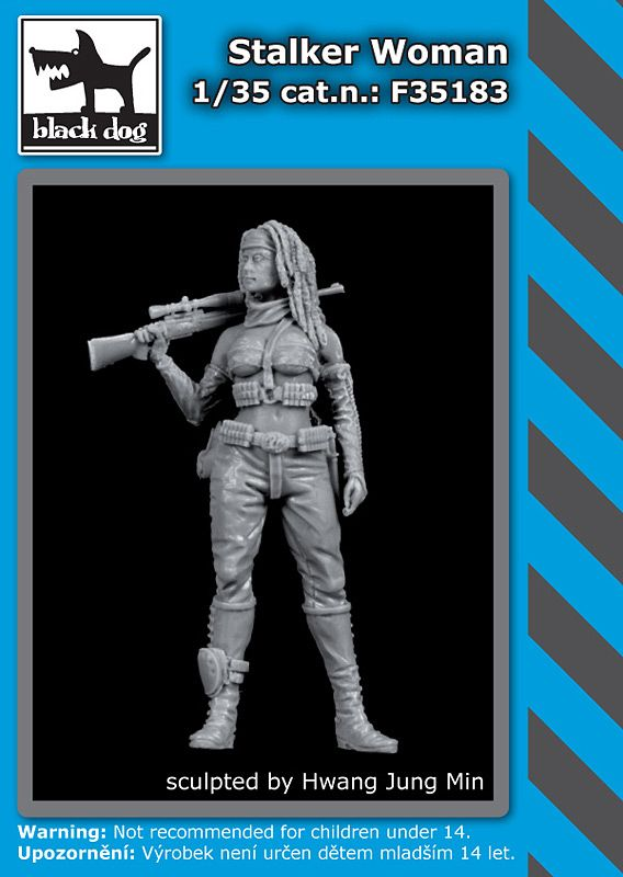 F35183 1/35 Stalker woman Blackdog