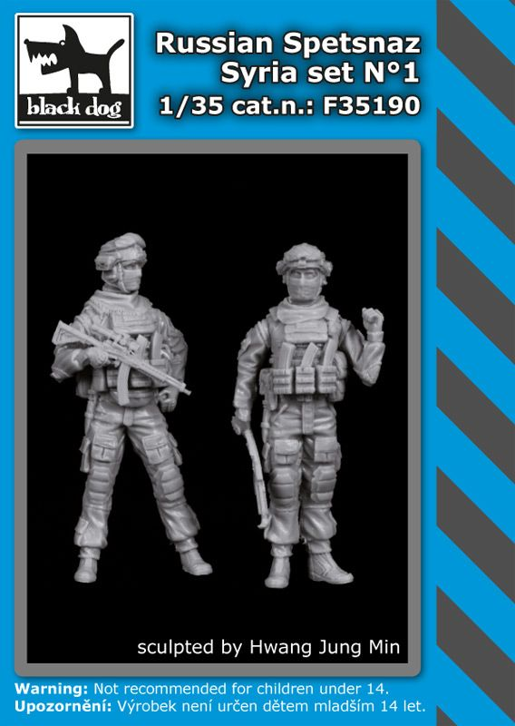 F35190 1/35 Russian Spetsnaz Syria set N°1 Blackdog