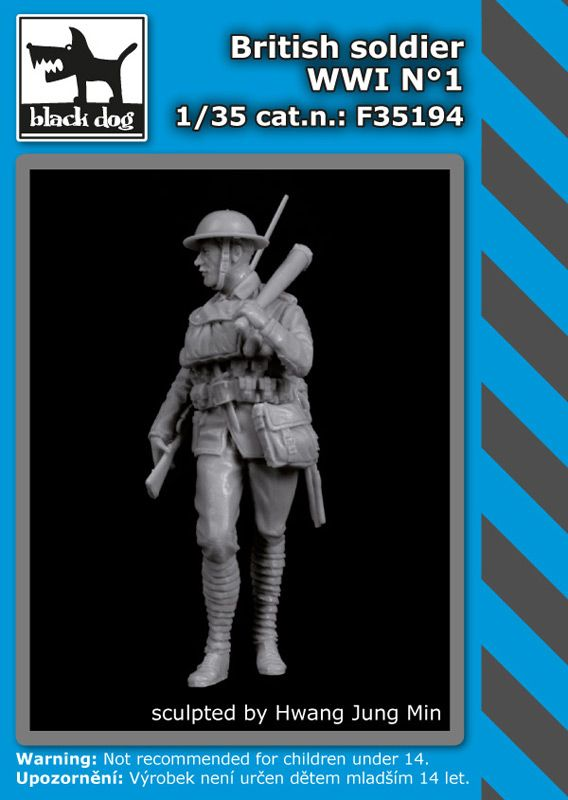 F35194 1/35 British soldier WWI N°1 Blackdog