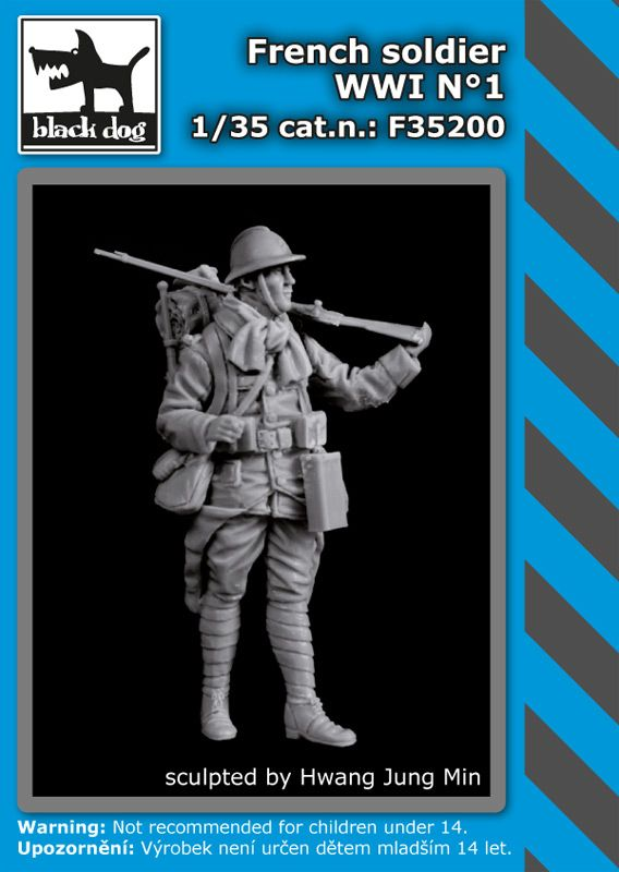 F35200 1/35 French soldier WWI N°1 Blackdog