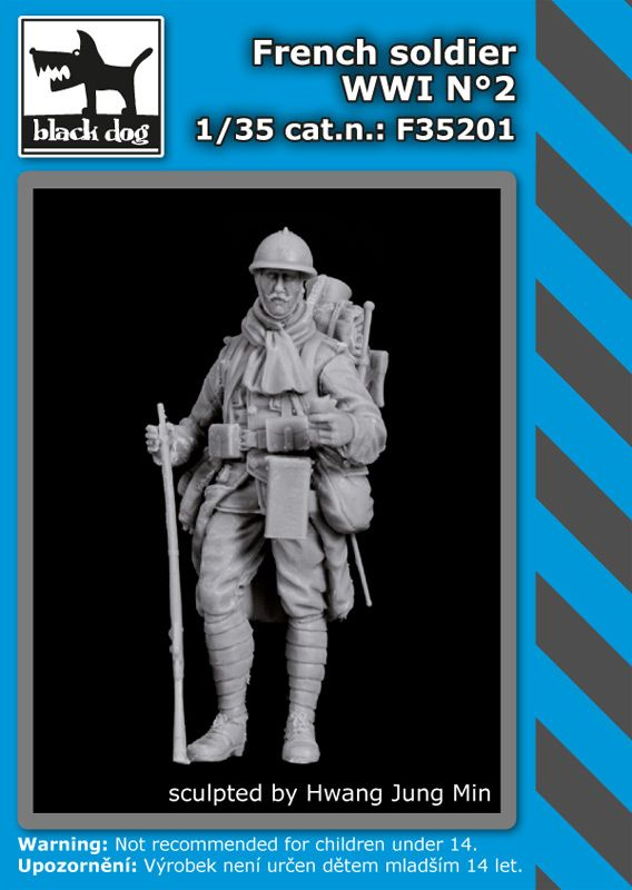 F35201 1/35 French soldier WWI N°2 Blackdog