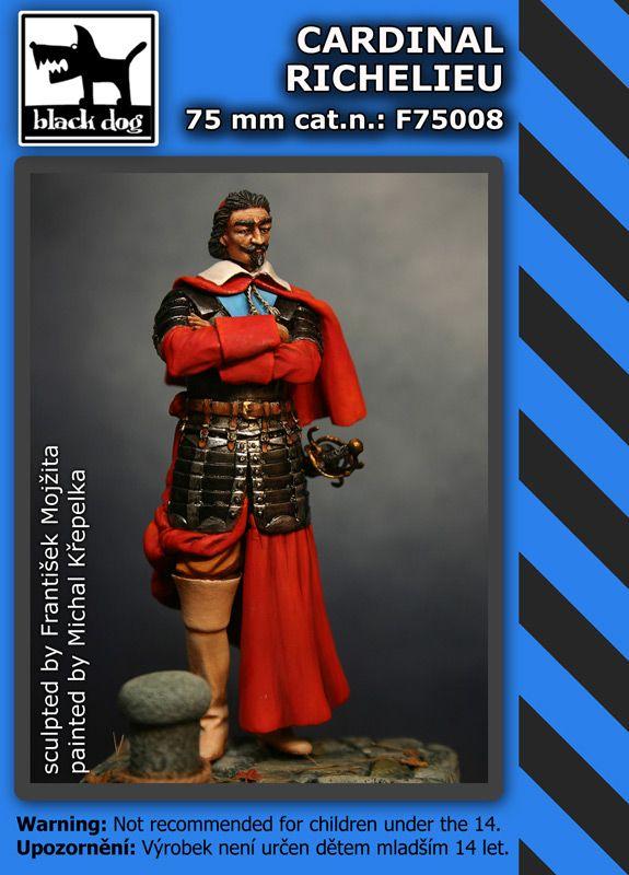 F75008 75mm Cardinal Richelie Blackdog