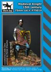 F75019 75mm Medieval Knight 15Th Century