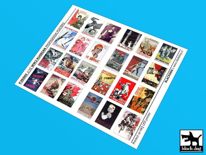 P35003 1/35 WW II Russian Propaganda posters (24 posters) Blackdog