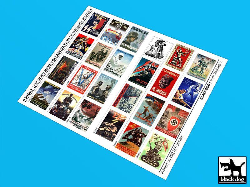 P35007 1/35 WW II Nazi collaboration Propaganda posters (24 posters) Blackdog