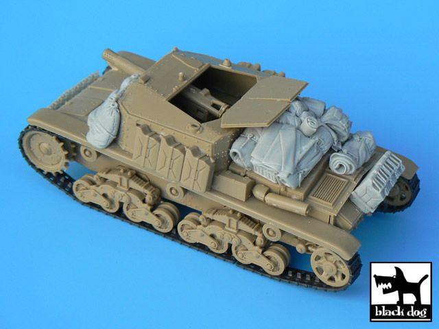 T35004 1/35 Semovente M40-75/18 accessories set Blackdog