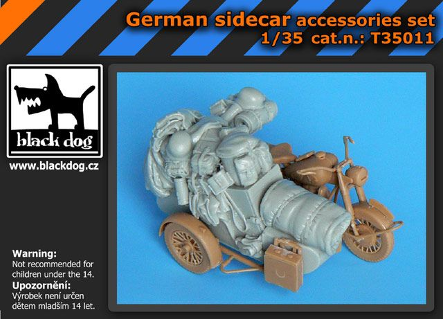 T35011 1/35 German sidecar accessories set Blackdog
