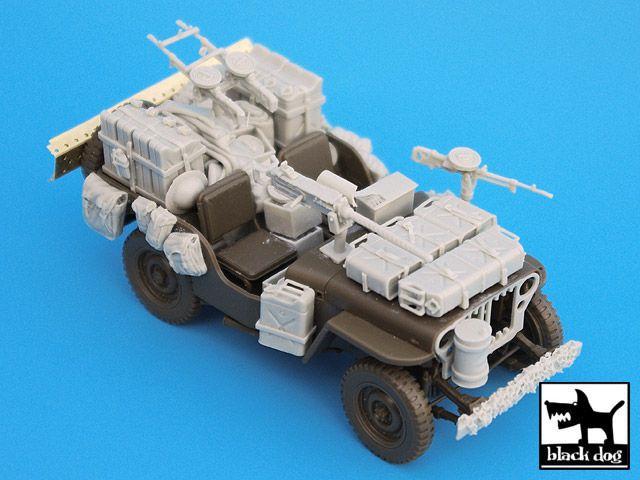 T35014 1/35 British SAS Jeep Africa Blackdog