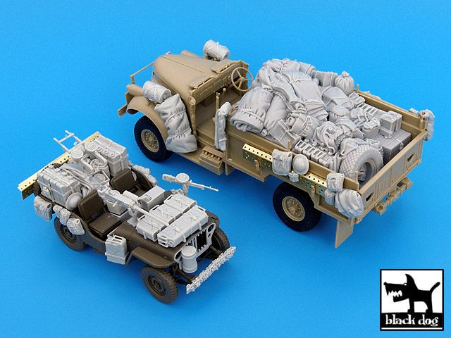 T35016 1/35 British SAS Jeep -Chevrolet Africa Blackdog