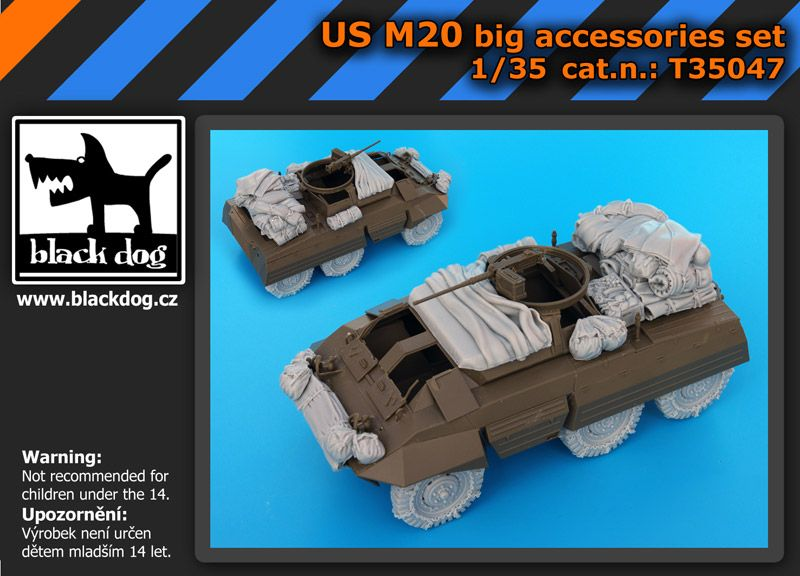 T35047 1/35 US M 20 big accessories set Blackdog