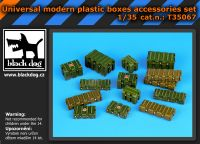 T35067 1/35 Universal modern plastic boxes accessories set Blackdog