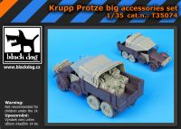 T35074 1/35 Krupp Protze big accessories set Blackdog