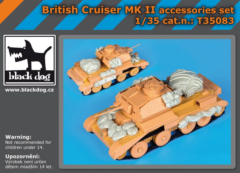 T35083 1/35 British Cruiser Mk Ii accessories set Blackdog