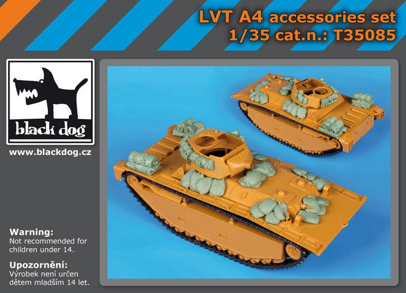 T35085 1/35 LVT A4 accessories set Blackdog