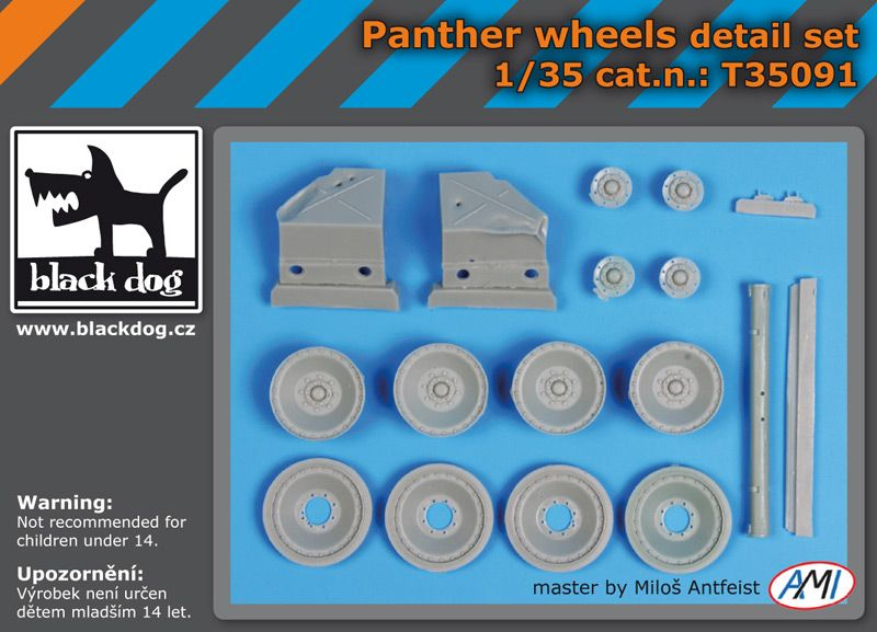 T35091 1/35 Panther wheels detail set Blackdog