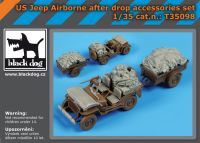 T35098 1/35 Us Jeep airborne after drop accessories set Blackdog