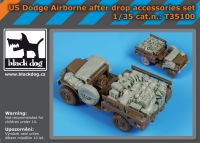 T35100 1/35 Us Dodge airborne after drop accessories set Blackdog