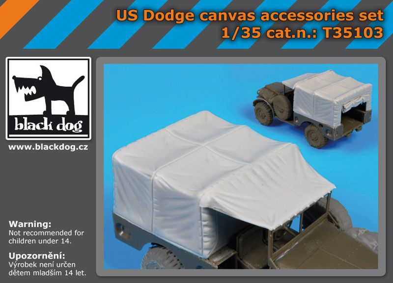 T35103 1/35 Us Dodge canvas accessories set Blackdog