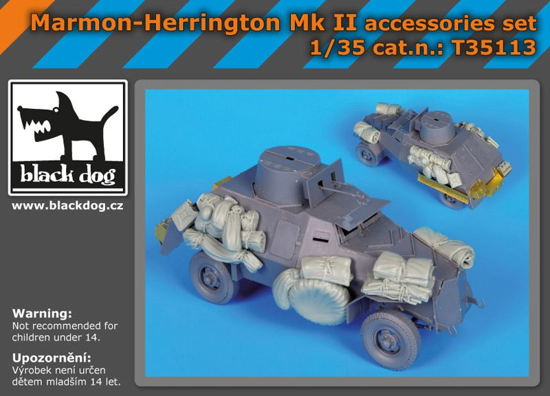 T35113 1/35 Marmon -Herrington Mk II accessories set Blackdog