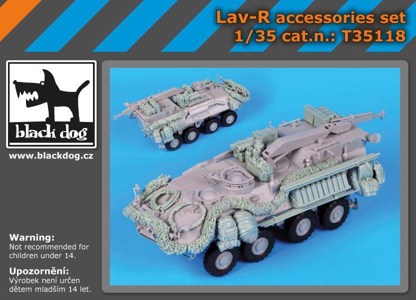 T35118 1/35 LAV-R accessories set Blackdog