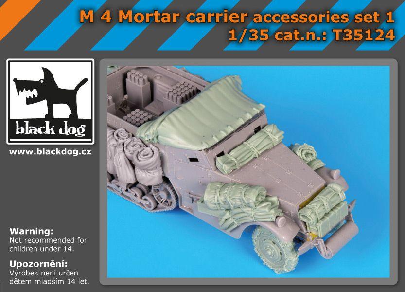 T35124 1/35 M 4 mortar carrier accessories set N Blackdog
